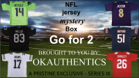 OKAUTHENTICS NFL Jersey Go for 2 Mystery Box Series IX at PristineAuction.com