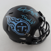 "Jonnu Smith Signed Titans Matte Eclipse Alternate Speed Mini-Helmet Inscribed ""Titan Up"" (Beckett COA) at PristineAuction.com"
