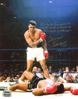 Earnie Shavers Signed 8x10 Photo vs. Muhammad Ali with Extensive Inscription (Shavers Hologram) at PristineAuction.com