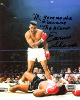 "Earnie Shavers Signed 8x10 Photo vs. Muhammad Ali Inscribed ""Ali Gave Me the Nickname 'The Acorn'"" (Shavers Hologram) at PristineAuction.com"