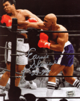 """Earnie Shavers Signed 8x10 Photo vs. Muhammad Ali Inscribed """"9-29-77"""" (Shavers Hologram) at PristineAuction.com"""
