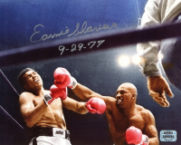"Earnie Shavers Signed 8x10 Photo vs. Muhammad Ali Inscribed ""9-29-77"" (Shavers Hologram) at PristineAuction.com"