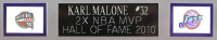 Karl Malone Signed 35x43 Custom Framed Jersey (Beckett COA) at PristineAuction.com