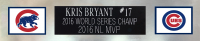Kris Bryant Signed 35x43 Custom Framed Jersey (Fanatics Hologram & MLB Hologram) at PristineAuction.com