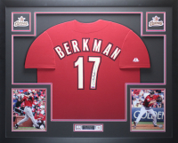 Lance Berkman Signed 35x43 Custom Framed Jersey (TriStar Hologram) at PristineAuction.com