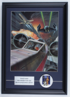 "Ralph McQuarrie ""Star Wars"" 16x20.5 Custom Framed Pre Production Art Print Display with Original 1977 Star Wars Lapel Pin at PristineAuction.com"