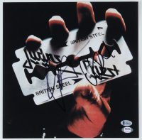 "Rob Halford & Ian Hill Signed ""Judas Priest"" British Steel 12x12 Photo (Beckett COA & PSA Hologram) (See Description) at PristineAuction.com"
