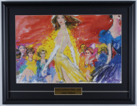 "LeRoy Neiman ""Paris Fashion Week 1993"" 17x22 Custom Framed Print Display with Princess Diana & Catherine Deneuve at PristineAuction.com"