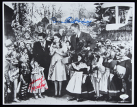"""The Wizard of Oz"" 11x14.5 Photo Cast-Signed by (4) with Mickey Carroll, Jerry Maren, Karl Slover & Donna Stewart Hardaway (JSA COA) (See Description) at PristineAuction.com"