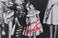 """""""The Wizard of Oz"""" 11x14.5 Photo Cast-Signed by (4) with Mickey Carroll, Jerry Maren, Karl Slover & Donna Stewart Hardaway (JSA COA) (See Description) at PristineAuction.com"""