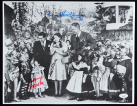 """""""The Wizard of Oz"""" 11x14.5 Photo Cast-Signed by (4) with Mickey Carroll, Jerry Maren, Karl Slover & Donna Stewart Hardaway (JSA COA) at PristineAuction.com"""