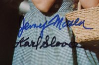"""""""The Wizard of Oz"""" 11x14 Photo Cast-Signed by (4) with Mickey Carroll, Jerry Maren, Karl Slover, & Donna Stewart Hardaway (JSA COA) (See Description) at PristineAuction.com"""