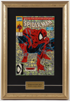 "Marvel Comics ""Spiderman""  First Issue 12x16 Custom Framed Comic Book Display at PristineAuction.com"