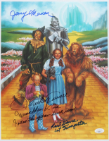 """Mickey Carroll, Jerry Maren & Karl Slover Signed """"The Wizard of Oz"""" 11x14 Photo with Multiple Inscriptions (JSA COA) (See Description) at PristineAuction.com"""