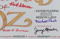 """""""The Wizard Of Oz"""" 16x24 Poster Cast-Signed by (6) with Jerry Marren, Donna Stewart-Hardaway, Karl Slover, Clarence Swensen with Multiple Inscriptions (JSA COA) (See Description) at PristineAuction.com"""