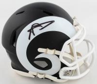 Aaron Donald Signed Rams Matte Black Speed Mini Helmet (JSA COA) at PristineAuction.com