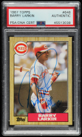 "Barry Larkin Signed 1987 Topps #648 RC Inscribed ""HOF 2012"" (PSA Encapsulated) at PristineAuction.com"