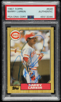 """Barry Larkin Signed 1987 Topps #648 RC Inscribed """"HOF 2012"""" (PSA Encapsulated) at PristineAuction.com"""