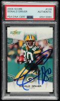 Donald Driver Signed 2008 Score #109 (PSA Encapsulated) at PristineAuction.com
