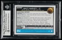 Matt Harvey Signed 2010 Bowman Draft Prospects #BDPP84 (BGS Encapsulated) at PristineAuction.com