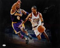 Allen Iverson Signed 76ers 16x20 Photo (JSA COA) at PristineAuction.com