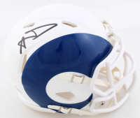 Aaron Donald Signed Rams AMP Alternate Speed Mini Helmet (JSA COA) at PristineAuction.com