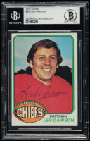 Len Dawson Signed 1976 Topps #308 (BGS Encapsulated) at PristineAuction.com