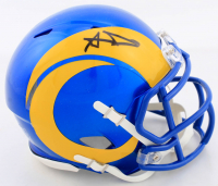 Aaron Donald Signed Rams Speed Mini Helmet (JSA COA) at PristineAuction.com