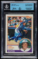Gary Carter Signed 1983 Topps #370 (BVG Encapsulated) at PristineAuction.com