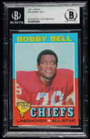 Bobby Bell Signed 1971 Topps #35 (BGS Encapsulated) at PristineAuction.com
