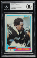 Gene Upshaw Signed 1981 Topps #219 (BGS Encapsulated) at PristineAuction.com