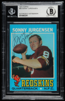 Sonny Jurgensen Signed 1971 Topps #50 (BGS Encapsulated) at PristineAuction.com