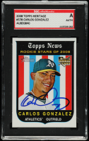 Carlos Gonzalez Signed 2008 Topps Heritage #578 RC (SGC Encapsulated) at PristineAuction.com