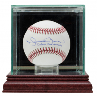 "Mariano Rivera Signed OML Baseball Inscribed ""Enter Sandman"" with Display Case (JSA COA) at PristineAuction.com"