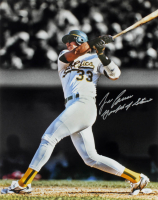 """Jose Canseco Signed Athletics 16x20 Photo Inscribed """"Godfather of Steroids"""" (JSA COA) at PristineAuction.com"""