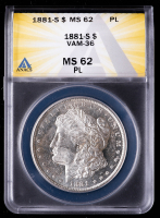1881-S Morgan Silver Dollar, VAM-36 (ANACS MS62 Proof Like) at PristineAuction.com