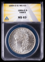 1884-O Morgan Silver Dollar, VAM-5 (ANACS MS63) at PristineAuction.com