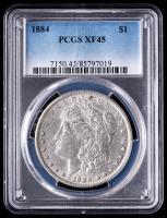 1884 Morgan Silver Dollar (PCGS XF45) at PristineAuction.com