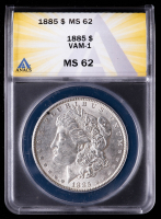 1885 Morgan Silver Dollar, VAM-1 (ANACS MS62) at PristineAuction.com