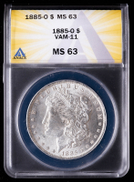 1885-O Morgan Silver Dollar, VAM-11 (ANACS MS63) at PristineAuction.com