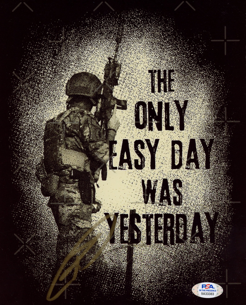 """Robert J. O'Neill Signed """"The Only Easy Day was Yesterday"""" 8x10 Photo (PSA Hologram) at PristineAuction.com"""