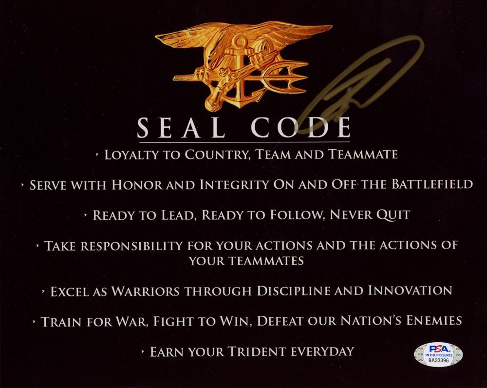 "Robert J. O'Neill Signed ""SEAL Code"" 8x10 Photo (PSA Hologram) at PristineAuction.com"