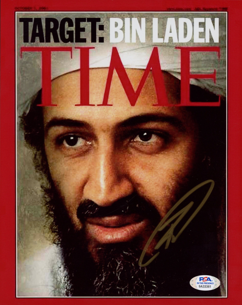 """Robert J. O'Neill Signed """"Target: Bin Laden"""" TIME Magazine 8x10 Cover Photo (PSA Hologram) at PristineAuction.com"""