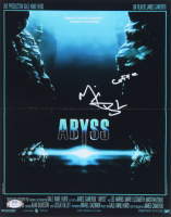 "Michael Biehn Signed ""Abyss"" 11x14 Movie Poster Print Inscribed ""Coffe"" (PSA COA) at PristineAuction.com"