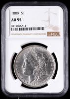 1889 Morgan Silver Dollar (NGC AU55) at PristineAuction.com