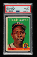 Hank Aaron 1958 Topps #30A (PSA 8) (OC) at PristineAuction.com