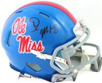 DK Metcalf Signed Ole Miss Rebels Speed Mini Helmet (Beckett COA) at PristineAuction.com