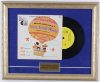 "1964 Original Disney ""It's a Small World"" 13x16 Custom Framed Vinyl LP Record Display at PristineAuction.com"