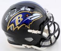 Patrick Queen Signed Ravens Speed Mini Helmet (Beckett COA) at PristineAuction.com