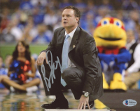 Bill Self Signed Kansas Jayhawks 8x10 Photo (Beckett COA) at PristineAuction.com